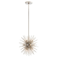 Arteriors Lighting Mini Zanadoo Chandelier - Polished Nickel
