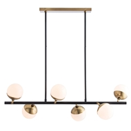 Arteriors Lighting Wahlburg Chandelier 89026 Black - Steel