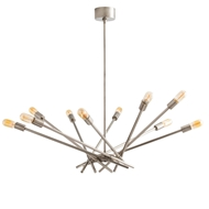 Arteriors Lighting Webster Chandelier 89005 Gray - Steel