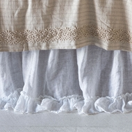 Bella Notte Linen Whisper Bed Skirt Quick Ship