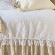 Bella Notte Linen Whisper Coverlet in White LWH25