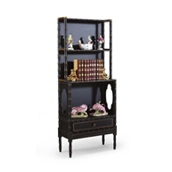 Chelsea House Home Bamboo Bookcase-Black 380000