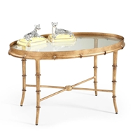 Chelsea House Home Gold Bamboo Ctail Table