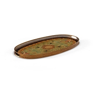 Chelsea House Home Oval Srvg Tray-Green 380566