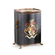 Chelsea House Home Coat/Arms Wastebasket