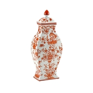 Chelsea House Home Orange And White Vase