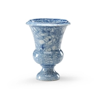 Chelsea House Home Blue Footed Vase