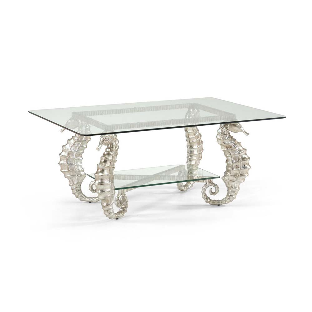 Chelsea House Home Seahorse Coffee Table Silver Free Shipping - Seahorse coffee table