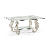 Chelsea House Home Seahorse Coffee Table Silver