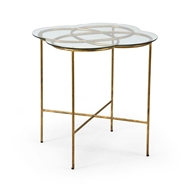 Chelsea House Home Love Knot Side Table - Gold