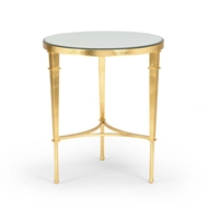 Chelsea House Home Round Regent Table-Gold