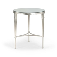 Chelsea House Home Round Regent Table-Silver