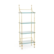 Chelsea House Home Coleman Etagere-Gold