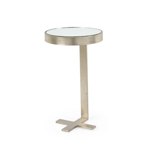 Chelsea House Home Mitchell Side Table - Silver 382003