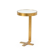 Chelsea House Home Mitchell Side Table-Gold 382004