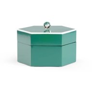 Chelsea House Home Teal Covered Box 382151