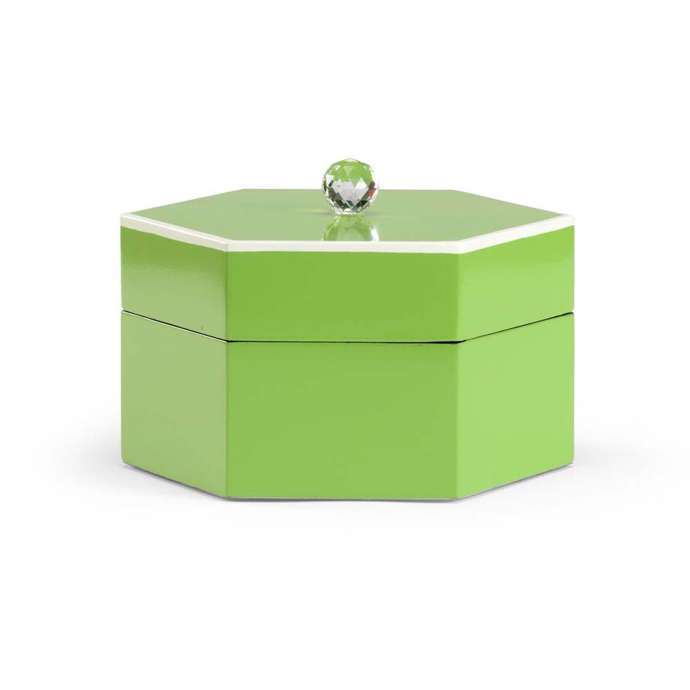 Chelsea House Green Covered Box | Bold and Bright: A Guide to Colorful Home Decor