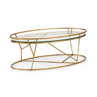 Chelsea House Home Mason Cocktail Table - Gold