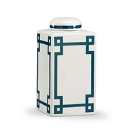 Chelsea House Home Parquetry Vase - Blue