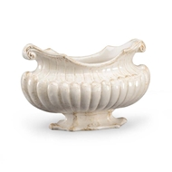 Chelsea House Home Antique White Oval Pot 382409