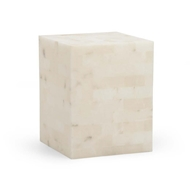 Chelsea House Home Square Alabaster Side Table