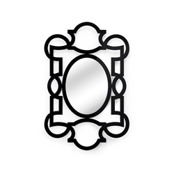 Chelsea House Wall Decor Tracery Mirror - Black 382464