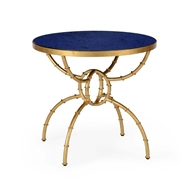 Chelsea House Home Bamboo Side Table - Lapis