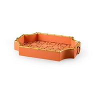 Chelsea House Home Bamboo Tray - Orange