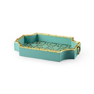 Chelsea House Home Bamboo Tray - Teal 382508