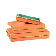 Chelsea House Home Orange Bamboo Boxes (S3) 382514