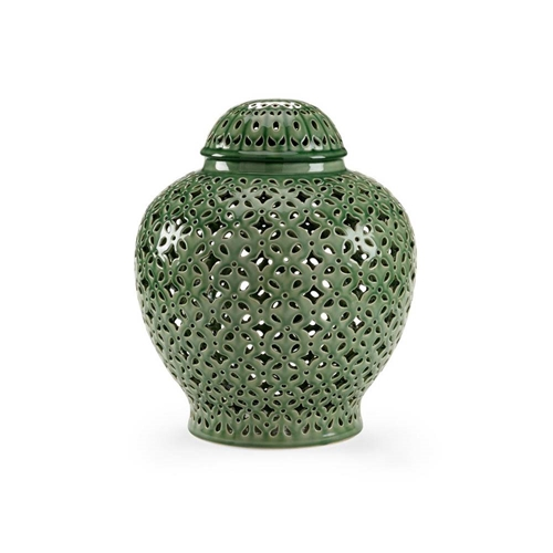 Chelsea House Home Pierced Covered Jar - Green 382538