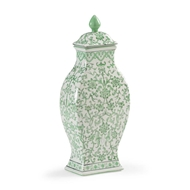 Chelsea House Home Green Covered Urn