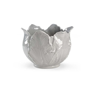 Chelsea House Home Leaf Cachepot - Grey 382613