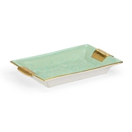 Chelsea House Home Green Relief Tray