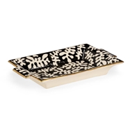 Chelsea House Home Black Coral Tray