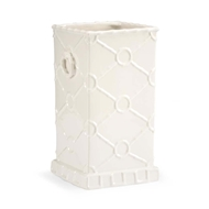 Chelsea House Home Square Ring Vase - White