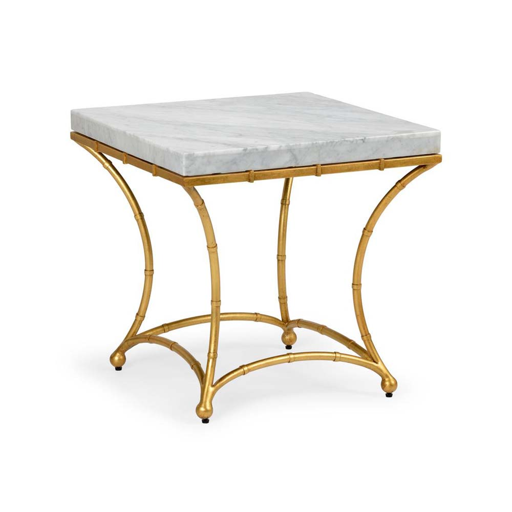 Chelsea House Home Bamboo Side Table   Gold