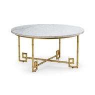 Chelsea House Home Bamboo Cocktail Table - Gold 382741