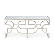 Chelsea House Home Contemporary Table - Silver
