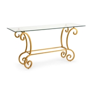 Chelsea House Home Amber Console - Gold 382814