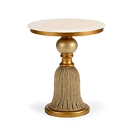 Chelsea House Home Tassel Side Table - Gold
