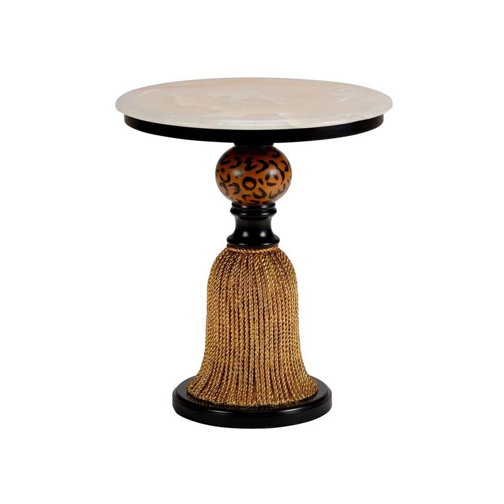 Chelsea House Home Tassel Side Table   Gold