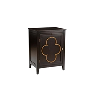 Chelsea House Home Quatrafoil Chest - Black Rt 382828