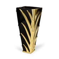 Chelsea House Home Leaf Vase - Black