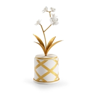 Chelsea House Home Round Flower Accent - Gold