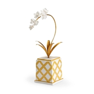 Chelsea House Home Square Flower Accent - Gold