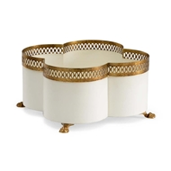 Chelsea House Home Tracery Cachepot - Cream Sm 382899