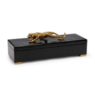 Chelsea House Home Cheetah Box - Black 382902