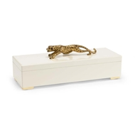 Chelsea House Home Cheetah Box - Cream 382903