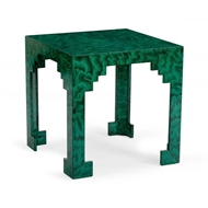 Chelsea House Home Malachite Cut Corner Table